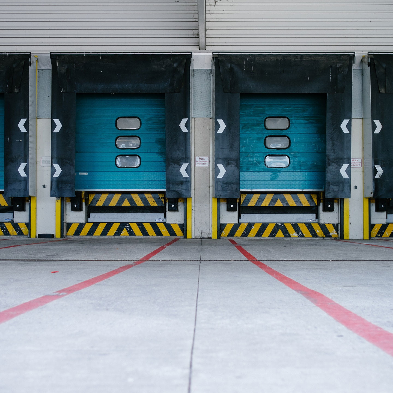 Photo of a semi-truck loading dock.