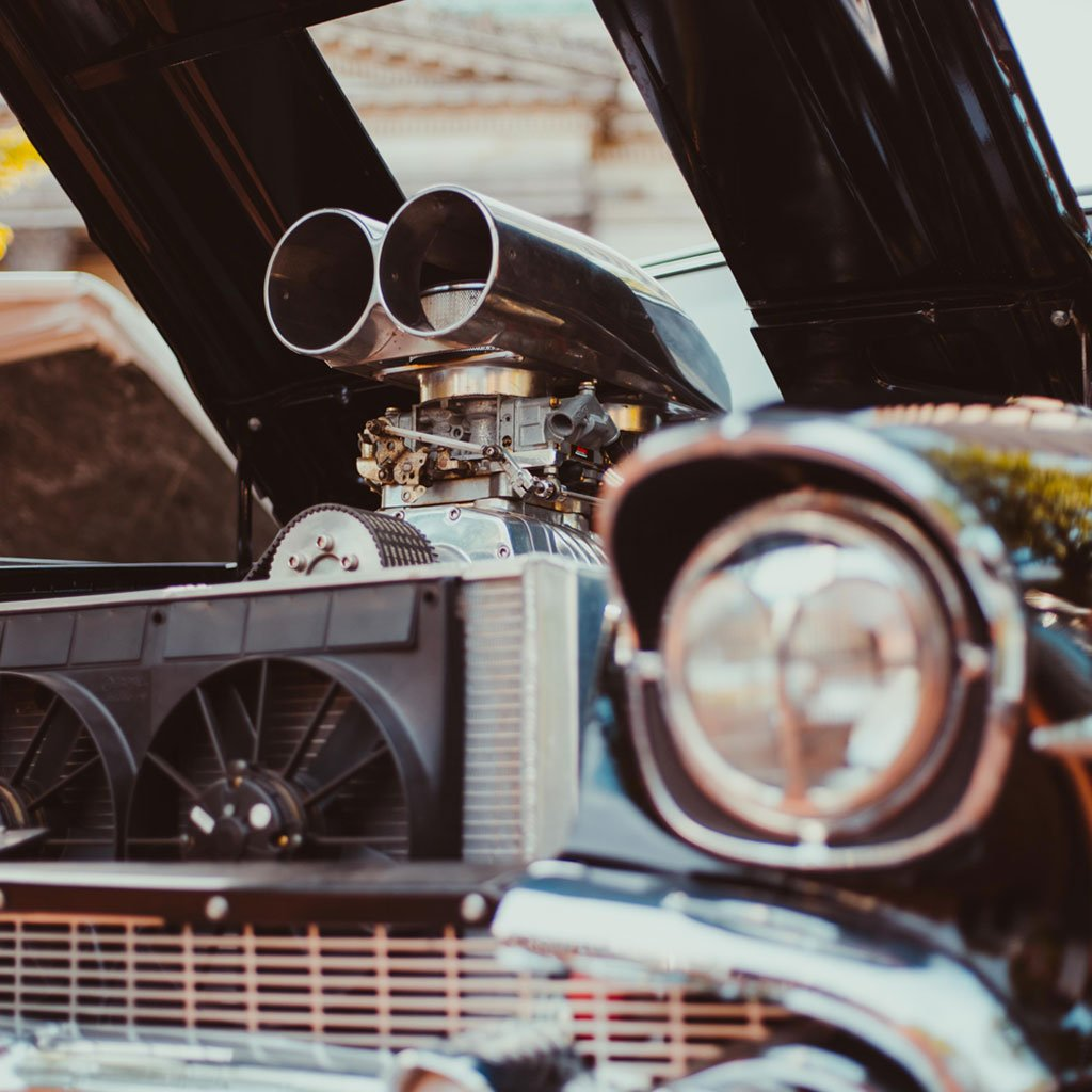 Photo of an hot rod engine