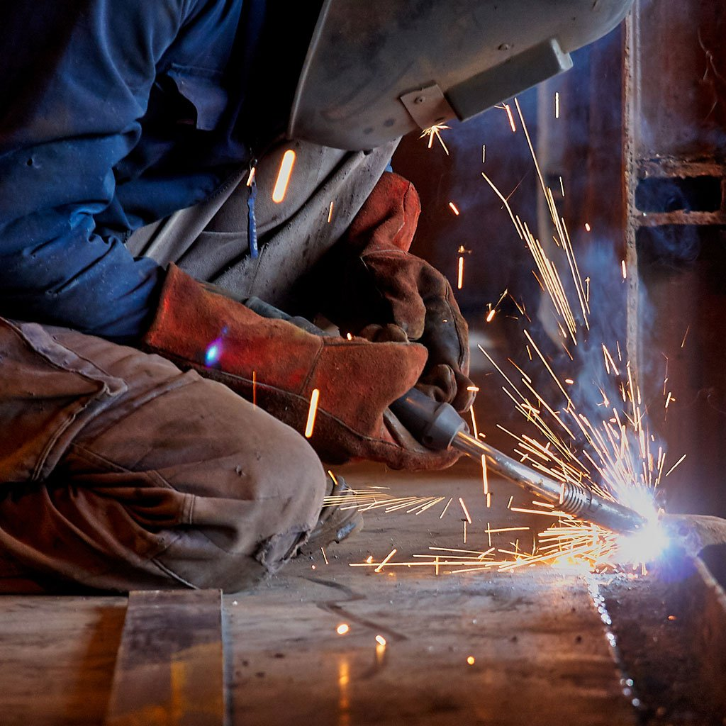 Photo of a welder